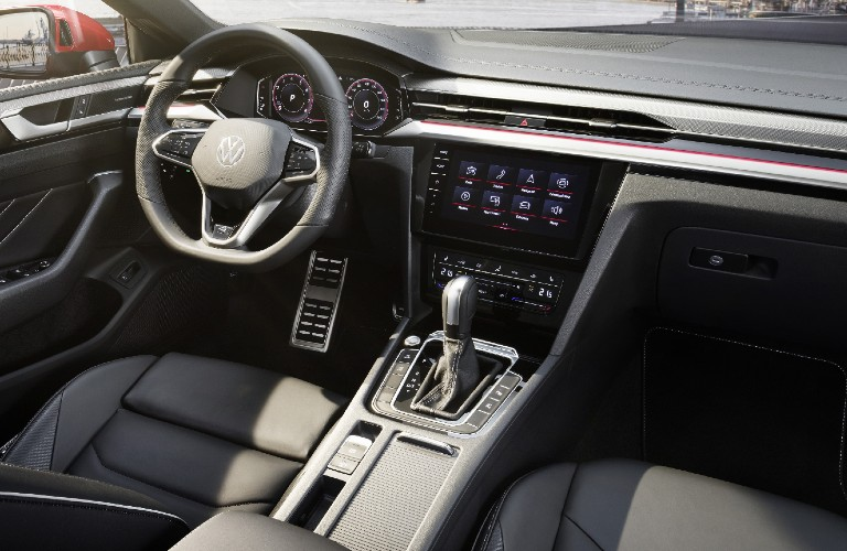 Grey dashboard and front seats in 2021 Volkswagen Arteon