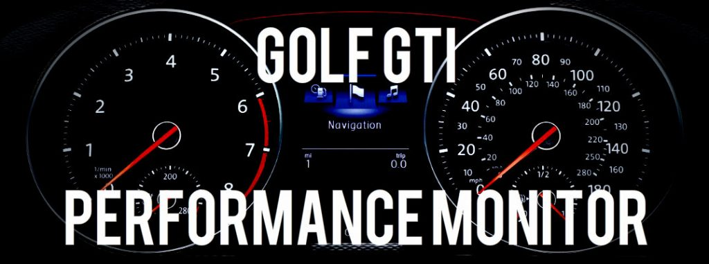 How to Use Volkswagen Golf GTI Performance Monitor