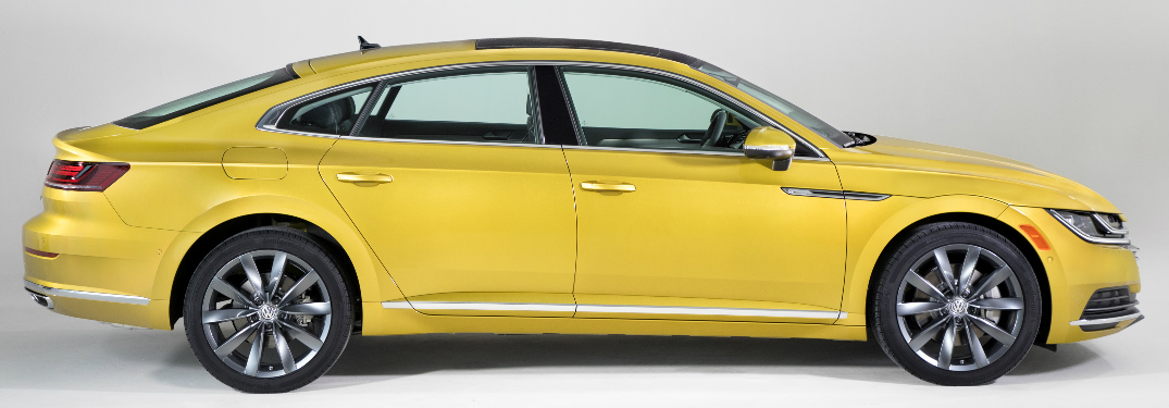 Side View of Yellow 2019 VW Arteon