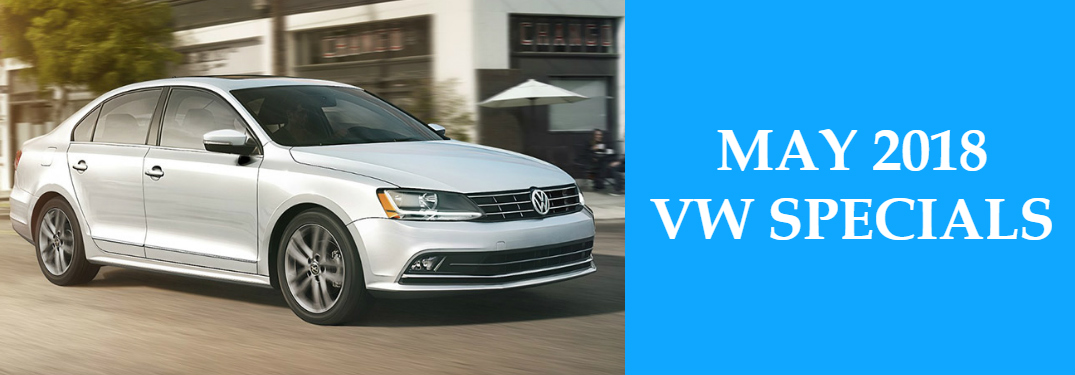 May 2018 VW Specials Title and White 2018 VW Jetta