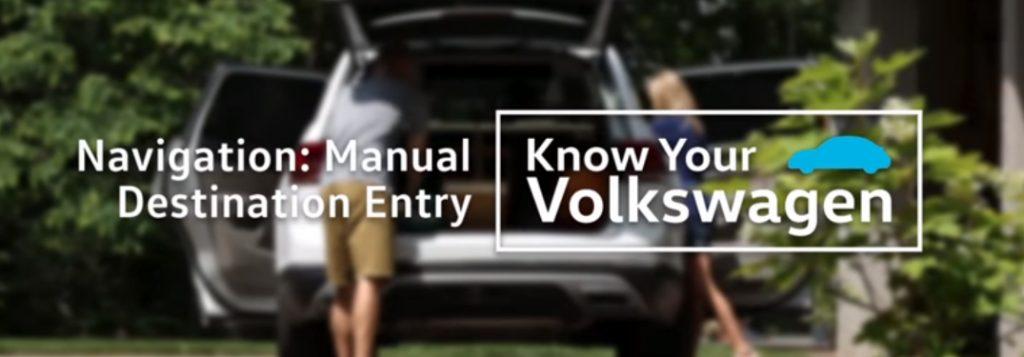 How can I set the destination for the Volkswagen Navigation System?