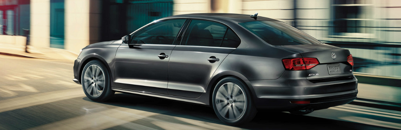 Rear View of Black 2018 Volkswagen Jetta