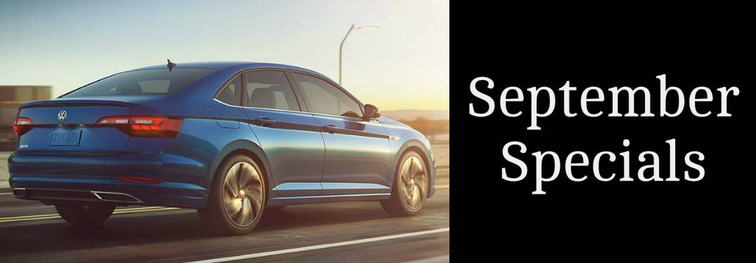 September Specials Title and Blue 2019 VW Jetta