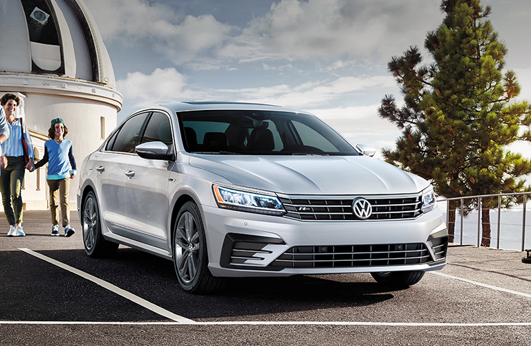 Front View of Silver 2019 VW Passat