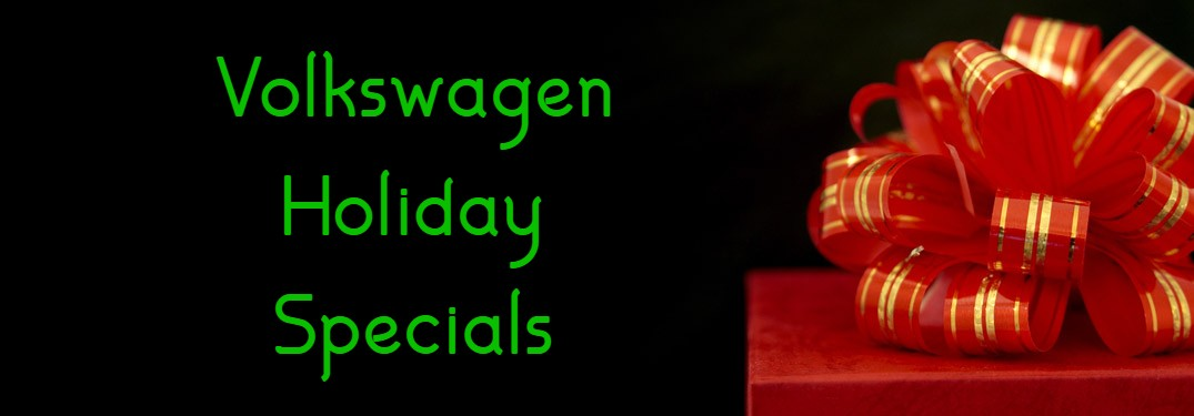 Volkswagen Holiday Specials title and a red Christmas present