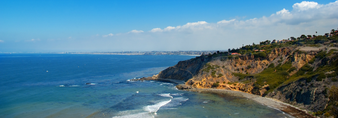 Palos Verdes penninsula with Redondo Beach in the background