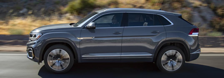 Side view of grey 2020 Volkswagen Atlas Cross Sport