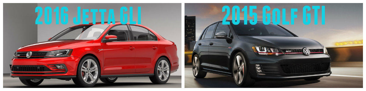 Differences Between 2016 Volkswagen Jetta GLI vs 2015 Volkswagen Golf GTI