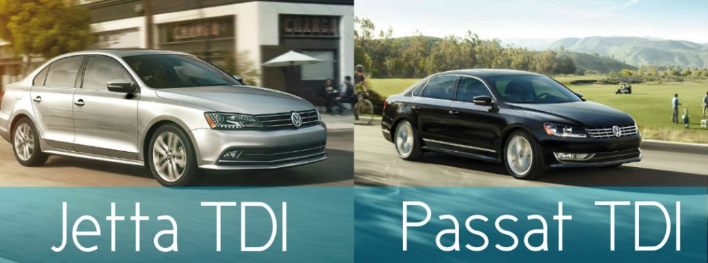 Difference Between 2015 VW Jetta TDI vs 2015 VW Passat TDI