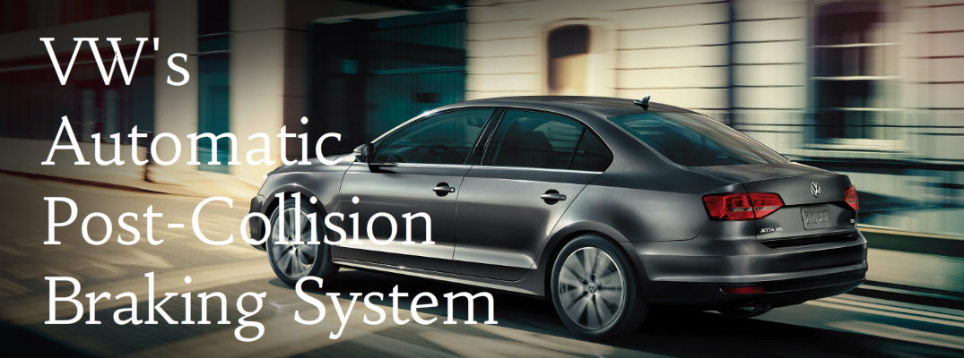What Does VW Automatic Post-Collision Braking System Do?