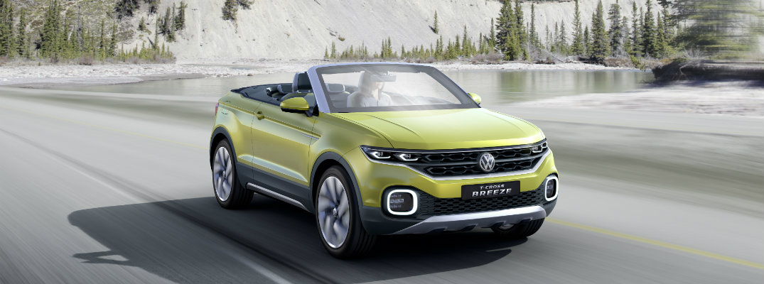 bumper and grille design of t-cross breeze convertible suv concept