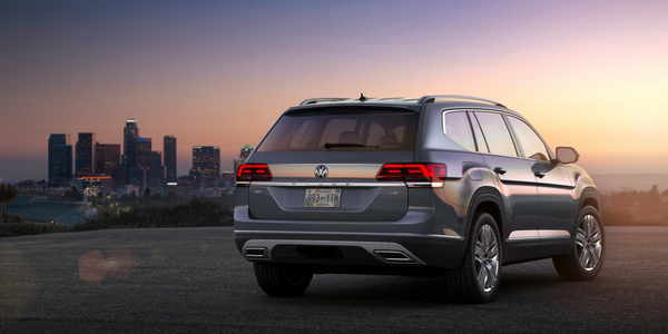 2018 VW Atlas Rear View of Gray Exterior