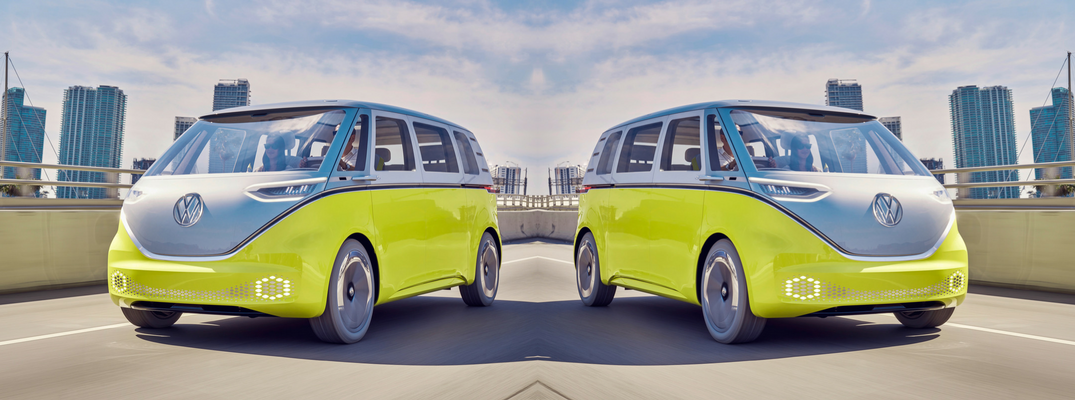 VW I.D. Buzz Yellow Exterior Mirrored