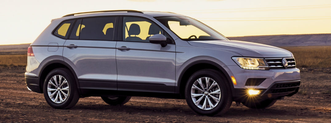 2018 VW Tiguan Side View of Exterior with Sunset