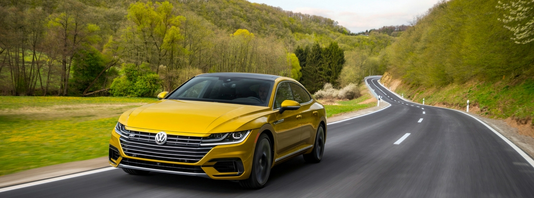 2019 VW Arteon Front View of Yellow Exterior with R-Line