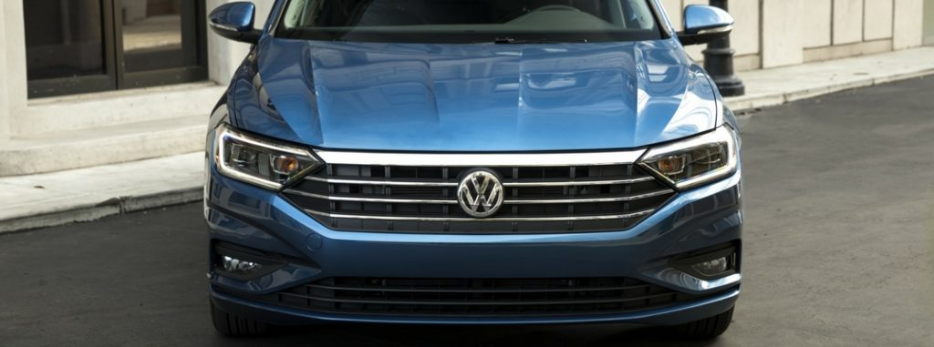 2019 Vw Jetta Close Up View Of Blue Exterior 1 O Findlay
