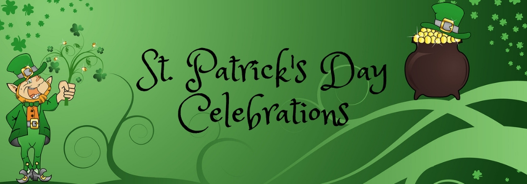 st patricks day celebrations banner