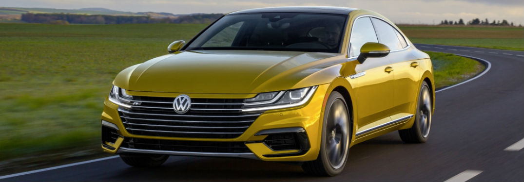 2019 Volkswagen Arteon driving on a road