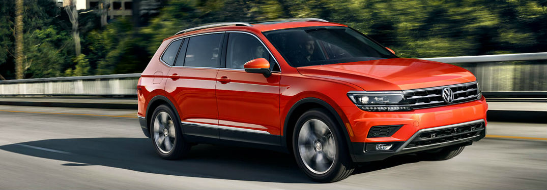 2019 Volkswagen Tiguan driving on a road