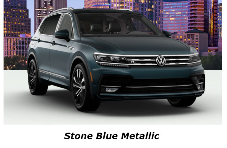 2020 Volkswagen Tiguan in Stone Blue Metallic