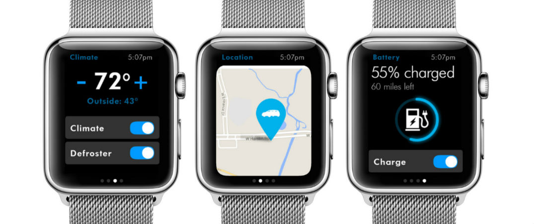 sync the new volkswagen car net app with the apple watch