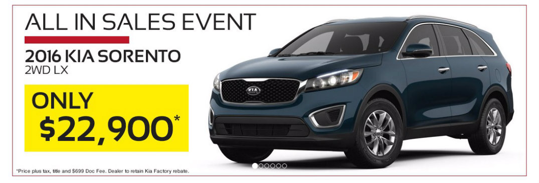 Kia All In sales event in Birmingham AL