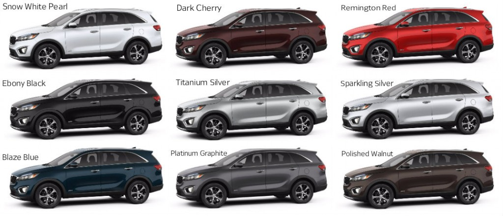 2016 Kia Sorento Color Options Serra Gardendale Kia