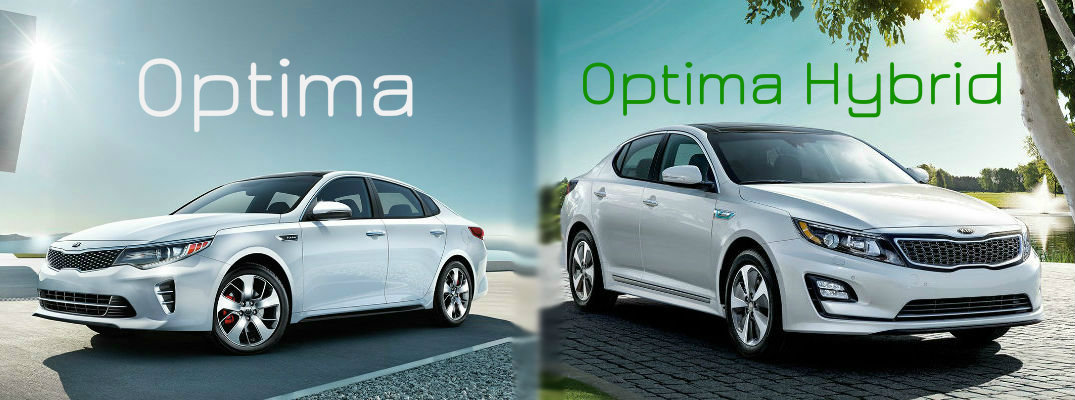 2016 Kia Optima vs 2016 Kia Optima Hybrid