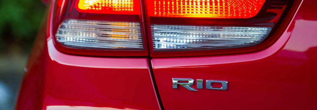 2018 Kia Rio 5-Door Hatchback View of Taillight and Rio Emblem
