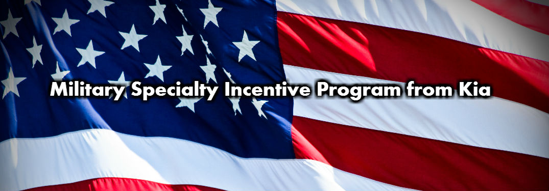 Military Specialty Incentive Program from Kia