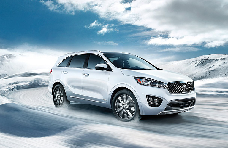 2018 Kia Sorento Exterior View in White