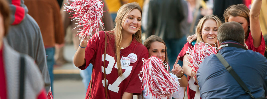 places to watch alabama football games