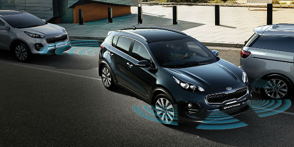2018 Kia Sportage Exterior View In Navy