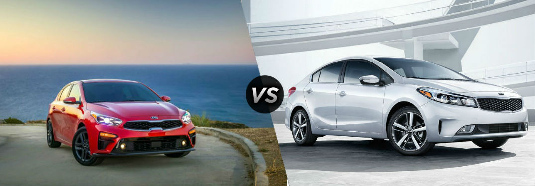 2019 Kia Forte in Red vs 2018 Kia Forte in Silver