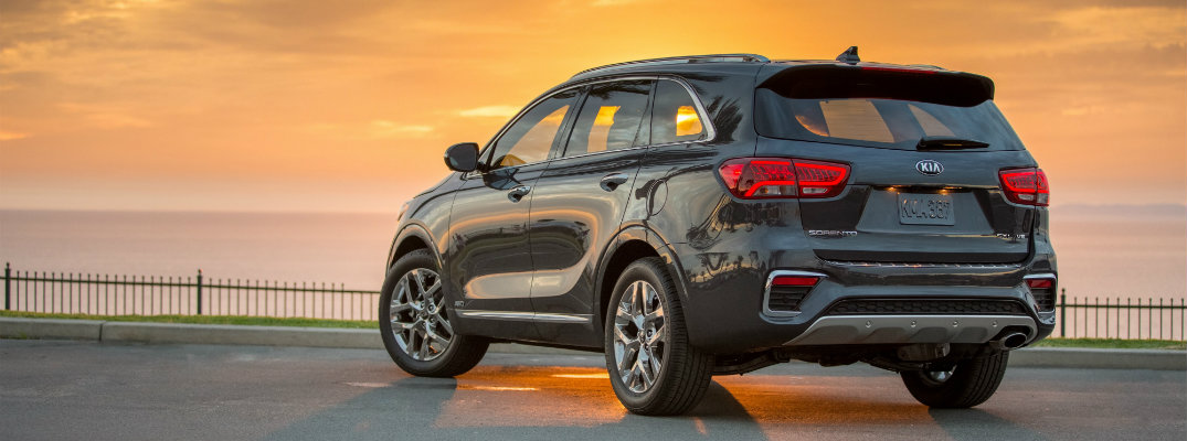 2019 Kia Sorento facing the sunset
