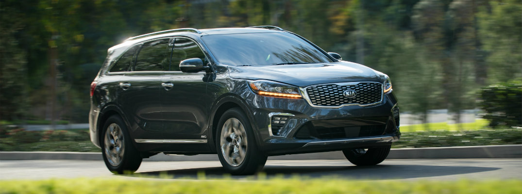 2019 Kia Sorento driving down the road