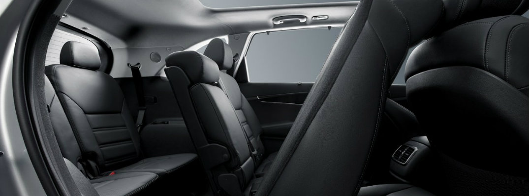 Rear seats in the 2018 Kia Sorento