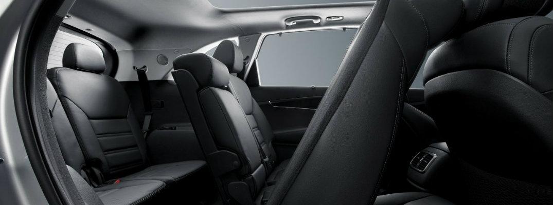 Rear seats in the 2018 Kia Sorento