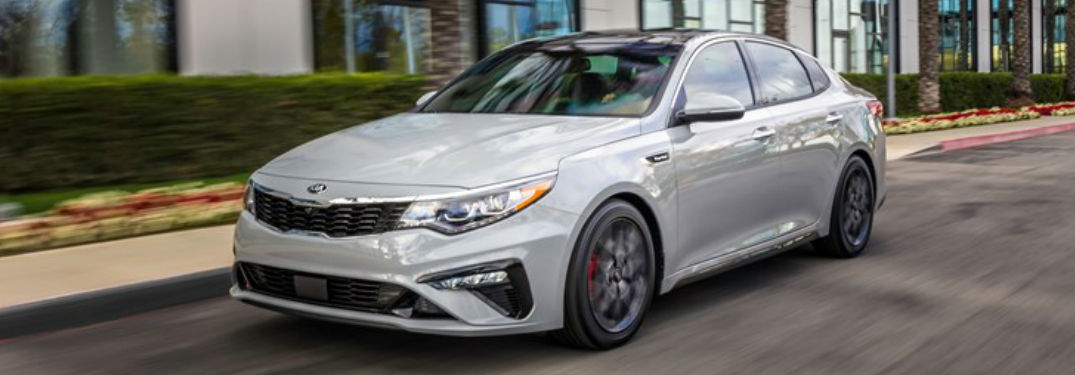 Front View of 2019 Kia Optima in Silver