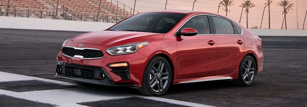 red 2019 Kia Forte front side view