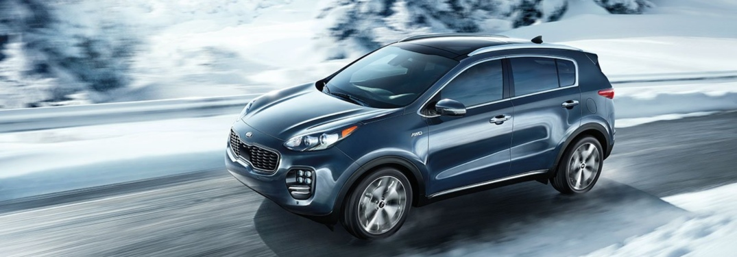 blue 2018 Kia Sportage front side view