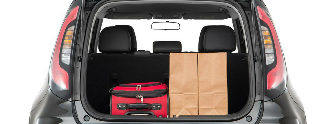 2018 Kia Soul Lifgate Up with Cargo in Rear
