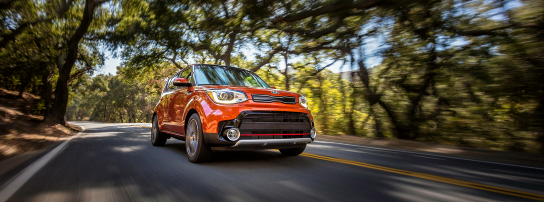 2018 Kia Soul Front View of Orange Exterior