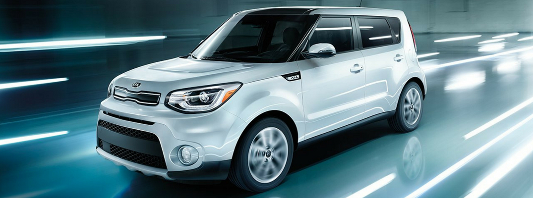 2018 Kia Soul Side View of Silver Exterior