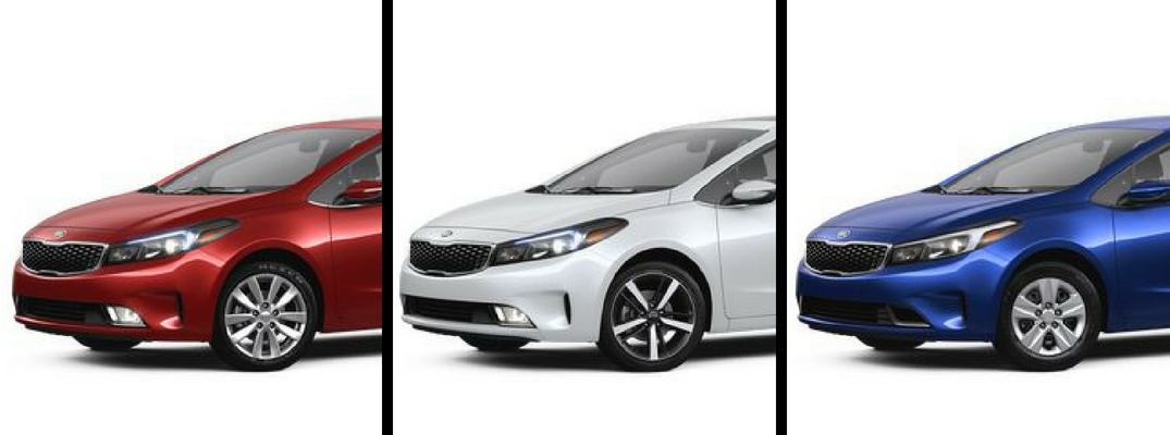 2018 Kia Forte in Red, White, and Blue Paint Colors