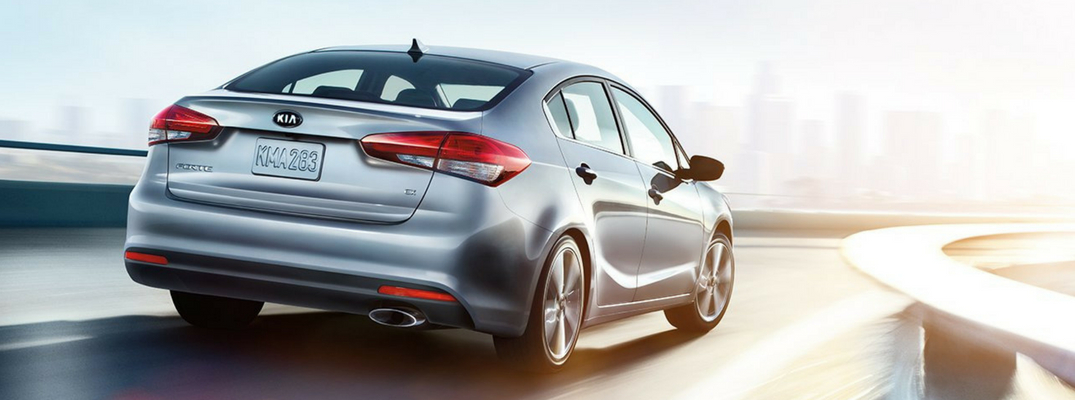 2018 Kia Forte Rear View of Silver Exterior