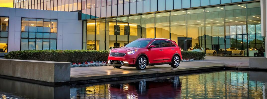 2018 Kia Niro Diagonal View of Red Exterior