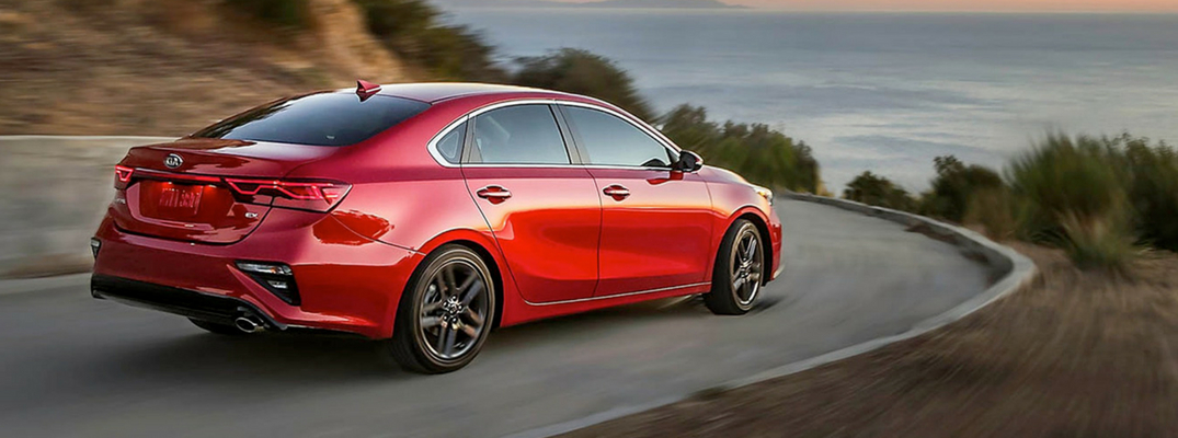2019 Kia Forte Rear View of Red Exterior