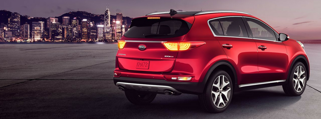 2019 Kia Sportage Rear View of Hyper Red Exterior
