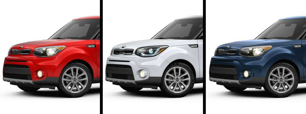 2019 Kia Soul in Red, White, and Blue